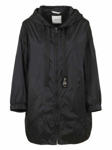 Black Technical Fabric Parka