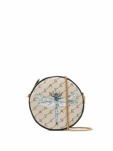 Stella McCartney Mini Round insect print mini bag - Brown