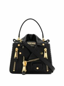 Moschino biker shoulder bag - Black