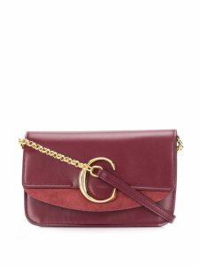 Chloé C plaque crossbody bag - Red