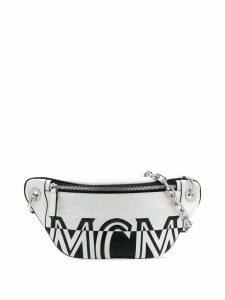 MCM logo print belt bag - White