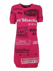 Patterned Technical Fabric Dress