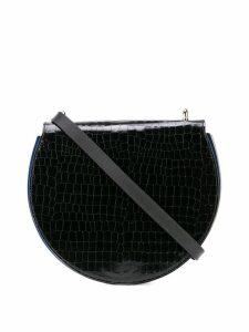 Sara Battaglia half-moon shoulder bag - Black