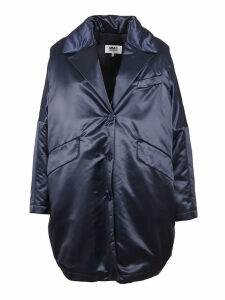 Blue Technical Fabric Coat
