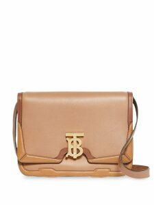 Burberry Medium Appliqué Leather TB Bag - Brown