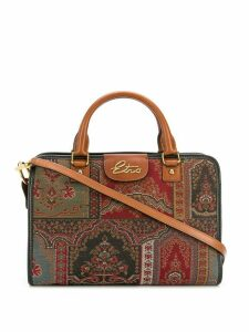 Etro paisley embroidered tote - Brown