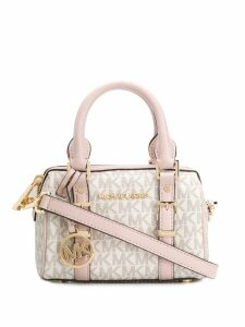 Michael Michael Kors Bedford monogram crossbody bag - White