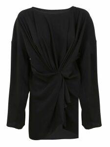 Black Technical Fabric Blouse