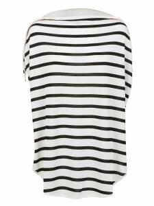 Black And White Viscose T-shirt