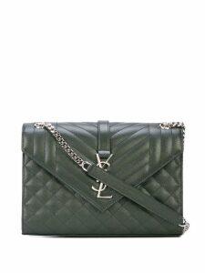 Saint Laurent quilted Envelope shoulder bag - Green