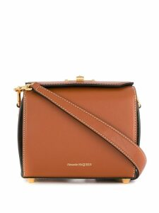 Alexander McQueen twist-lock chain shoulder bag - Brown