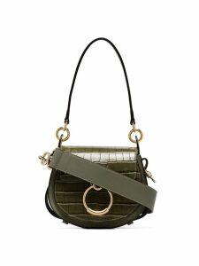 Chloé mini Tess crocodile-effect bag - Green
