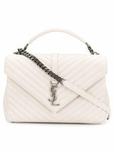 Saint Laurent Collège satchel bag - White