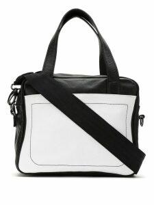 Mara Mac bicolor leather bag - Black