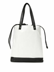 Mara Mac bicolor tote bag - White