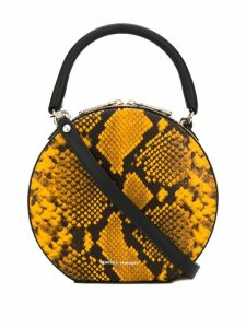 Rebecca Minkoff snake print tote bag - Yellow