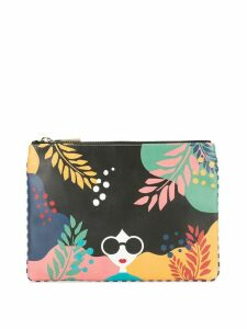 Alice+Olivia Stace Face clutch bag - Black
