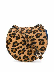 Sara Battaglia leopard panelled shoulder bag - Neutrals