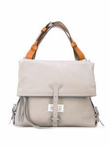 Maison Margiela logo patch foldover shoulder bag - Grey
