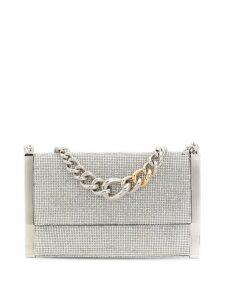 Ermanno Scervino rhinestone-embellished clutch bag - Silver