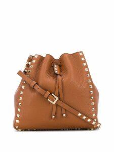 Valentino Valentino Garavani Rockstud drawstring shoulder bag - Brown
