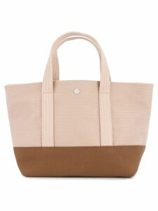Cabas knit style small tote bag - Pink