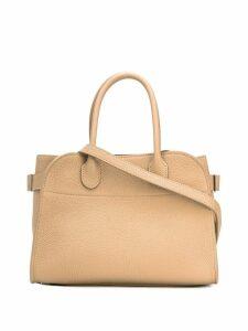 The Row pebbled shoulder bag - Neutrals
