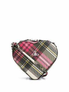 Vivienne Westwood tartan heart cross body bag - Neutrals