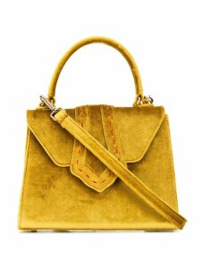 Mehry Mu velvet structured tote - Yellow
