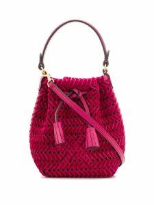 Anya Hindmarch woven design shoulder bag - Pink