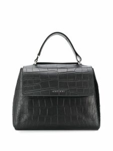 Orciani crocodile effect tote bag - Black