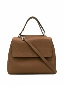 Orciani logo top-handle tote - Brown