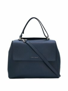 Orciani logo top-handle tote - Blue