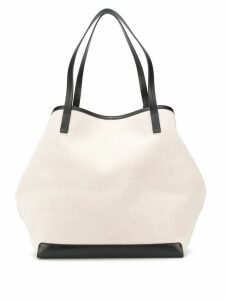 The Row contrast-trim shopper tote - Neutrals