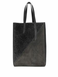Mr & Mrs Italy contrast tote bag - Grey