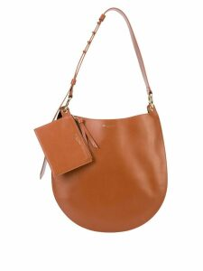 Sara Battaglia circular shaped shoulder bag - Brown