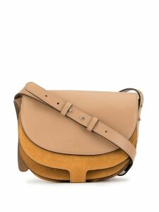 Erika Cavallini panelled saddle shoulder bag - Yellow