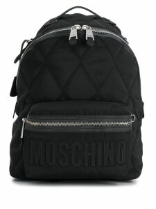 Moschino quilted effect backpack - Black