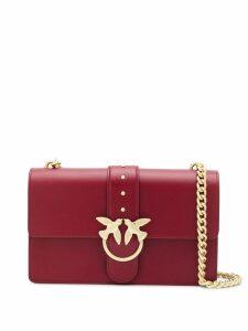 Pinko bird-buckle shoulder bag - Red