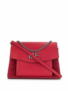 Marc Ellis logo plaque shoulder bag - Red