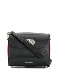 Alexander McQueen twist-lock fastening shoulder bag - Black