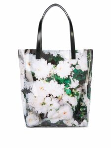 Kara floral tote bag - White