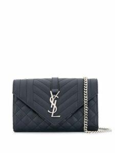 Saint Laurent small Monogram shoulder bag - Blue