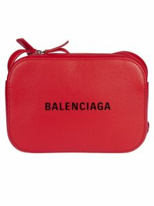 Balenciaga Logo Print Shoulder Bag