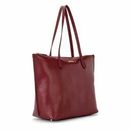 Furla Luce L Shoulder Bag In Blackcurrant Leather