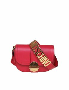 Moschino Marsupio In Leather Fuchsia Color