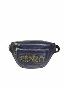 Kenzo Leather Marsup With Embroidered Logo