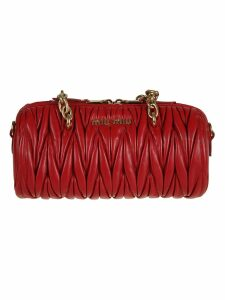 Miu Miu Logo Plaque Shoulder Bag