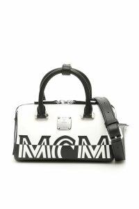MCM Contrast Logo Boston Mini Bag