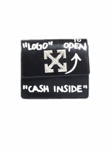 Off-White Jitney 0.7 Printed Leather Shoulder Bag